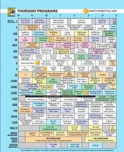 Comic Con Tips SDCC Thursday Schedule 1