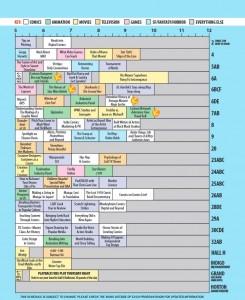 Comic Con Tips SDCC Thursday Schedule 2