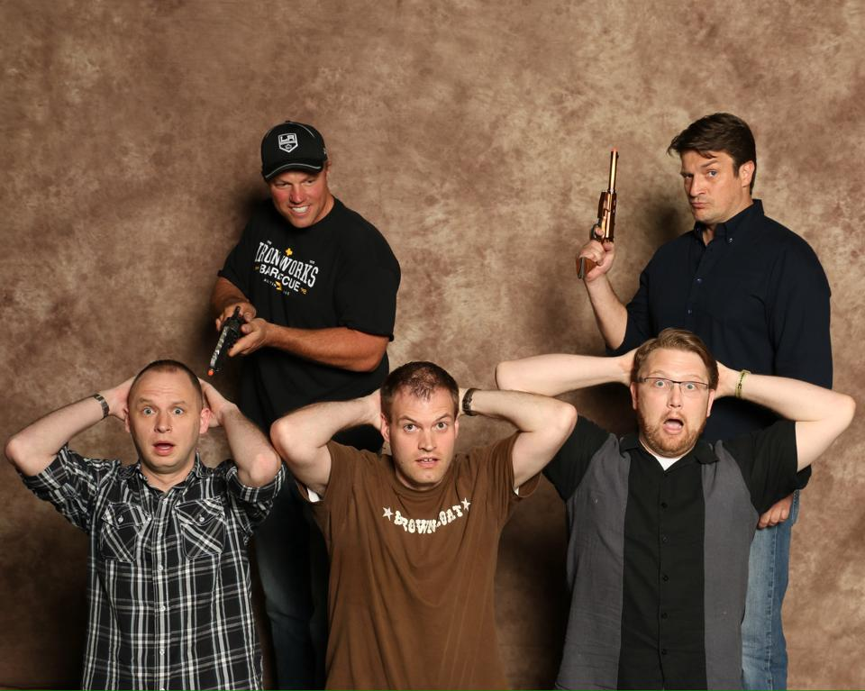 Nathan Fillion and Adam Baldwin Group Comic Con Photos