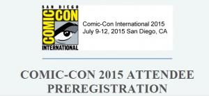 2015 SDCC Pre-Registration