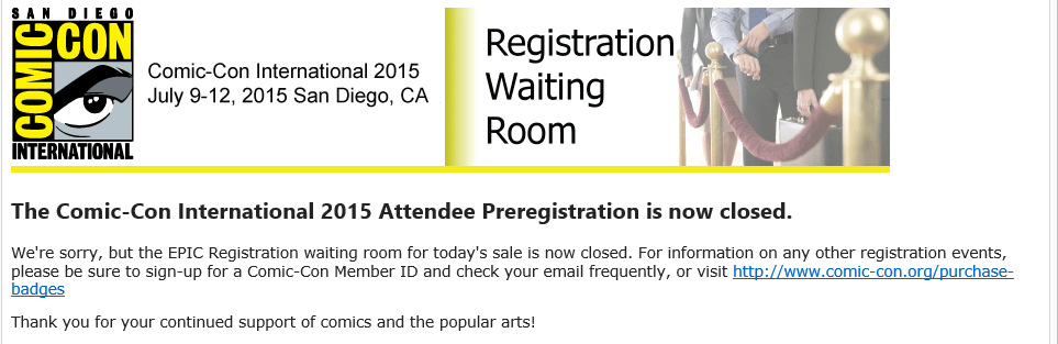2015 prereg closed